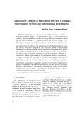 Comparative Analysis of Innovation between Vietnam's Microfinance System and International Benchmarks