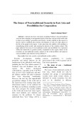 The Issues of Non-traditional Security in East Asia and Possibilities for Cooperation