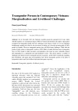 Transgender persons in contemporary Vietnam: marginalisation and livelihood challenges