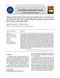 Đánh giá ảnh hưởng của cộng hưởng điện áp do sóng hài của tải phi tuyến đến tụ bù công suất phản kháng trong lưới điện 6kV Công ty than Nam Mẫu