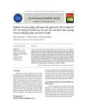 Nghiên cứu xây dựng mối quan hệ giữa mức độ ổn định bờ mỏ với thông số hình học bờ mỏ cho mỏ khai thác quặng Titan sa khoáng khu vực Bình Thuận