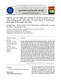 Nghiên cứu tác động môi trường do sử dụng Apatit Lào Cai chứa phóng xạ sản xuất phân bón tại Công ty cổ phần Supe phốt phát và Hóa chất Lâm Thao