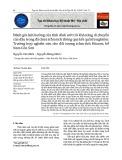 Đánh giá ảnh hưởng của tính dính ướt tới khả năng di chuyển của dầu trong đá chứa tràm tích tho ng qua kết quả thí nghiê ̣m: Trường hợp nghiên cứu cho đối tượng trầm tích Mioxen, bể Nam Côn Sơn