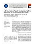 Ứng dụng bài toán thông tin logic kết hợp phương pháp toán thống kê để dự báo tài nguyên, trữ lượng kaolin nguồn gốc nhiệt dịch biến chất trao đổi vùng đông bắc Quảng Ninh