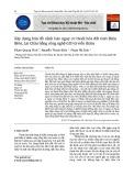 Xây dựng bản đồ cảnh báo nguy cơ thoái hóa đất tỉnh Điện Biên, Lai Châu bằng công nghệ GIS và viễn thám