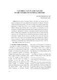 Van Mieu, Van Tu and Van Chi in the course of national history