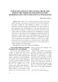 Ethnic relations in the central highlands during the period of industrialization, modernization and international integration
