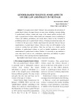 Gender based violence: some aspects on the law and policy in Vietnam