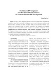 Sustainable development and the role of social sciences on Vietnam sustainable development