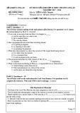 Đề thi vào lớp 10 THPT Chuyên năm 2017-2018 môn tiếng Anh - Sở GD&ĐT Long An (Chuyên)