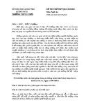 Đề thi thử THPT Quốc gia môn Ngữ Văn năm 2018 - THPT Lý Sơn