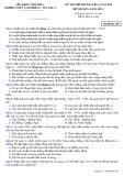 Đề thi thử THPT Quốc gia môn Lịch sử năm 2018 - THPT Tam Dương - Yên Lạc 2 - Mã đề 209