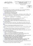 Đề thi thử THPT Quốc gia môn Lịch sử năm 2018 lần 3 - THPT Yên Lạc 2 - Mã đề 628