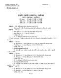 Phân phối chương trình môn Thể dục lớp 12 - Trường THPT Phù Lộc