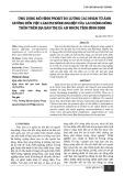 Ứng dụng mô hình Probit đo lường các nhân tố ảnh hưởng đến việc làm phi nông nghiệp của lao động nông thôn trên địa bàn thị xã An Nhơn, tỉnh Bình Định
