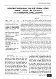 Nghiên cứu hình thái tinh thể và hàm lượng Oxalat canxi ở cây môn ngứa (Colocasia esculenta (l.) schott)