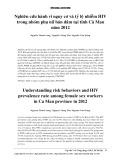 Nghiên cứu hành vi nguy cơ và tỷ lệ nhiễm HIV trong nhóm phụ nữ bán dâm tại tỉnh Cà Mau năm 2012