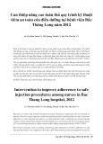 Can thiệp nâng cao tuân thủ quy trình kỹ thuật tiêm an toàn của điều dưỡng tại bệnh viện Bắc Thăng Long năm 2012