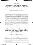 Đặc điểm dịch tễ học bệnh sốt xuất huyết dengue tại huyện Ba Tri, Bến Tre 2004-2014