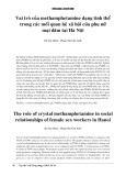 Vai trò của methamphetamine dạng tinh thể trong các mối quan hệ xã hội của phụ nữ mại dâm tại Hà Nội
