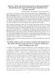Kiến thức - thái độ - thực hành của người chăm sóc chính người bệnh tâm thần phân liệt tại nhà và một số yếu tố liên quan ở huyện Bình Xuyên, Vĩnh Phúc, năm 2010