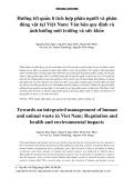 Hướng tới quản lí tích hợp phân người và phân động vật tại Việt Nam: Văn bản quy định và ảnh hưởng môi trường và sức khỏe