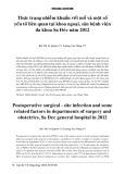 Thực trạng nhiễm khuẩn vết mổ và một số yếu tố liên quan tại khoa ngoại, sản bệnh viện đa khoa Sa Đéc năm 2012