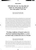 Điều kiện làm việc của công nhân nữ ngành sản xuất da giày tại một số khu công nghiệp ở Việt Nam