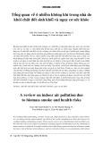 Tổng quan về ô nhiễm không khí trong nhà do chất đốt sinh khối và nguy cơ sức khỏe