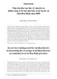 Nhu cầu đào tạo bác sỹ chuyên tu nhằm tăng tỷ lệ bao phủ bác sỹ tại tuyến xã tỉnh Hòa Bình năm 2009