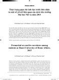 Thực trạng quan hệ tình dục trước hôn nhân và một số yếu tố liên quan của sinh viên trường Đại học Nội vụ năm 2015