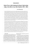 Dịch tễ học chấn thương do bỏng ở bệnh nhân nhập viện điều trị tại tỉnh Daklak 1998- 2002