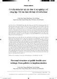 Cơ cấu nhân lực tại các đơn vị sự nghiệp y tế công lập: Từ văn bản tới thực tế triển khai