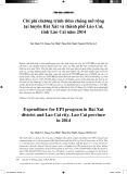Chi phí chương trình tiêm chủng mở rộng tại huyện Bát Xát và thành phố Lào Cai, tỉnh Lào Cai năm 2014
