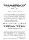 Hiệu quả can thiệp calci-d và truyền thông phòng chống loãng xương ở người có mật độ xương thấp tại thành phố Hồ Chí Minh năm 2011-2013
