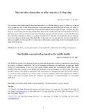 Một sức khỏe: Quan niệm và triển vọng cho y tế công cộng