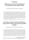 Rối loạn lo âu và một số yếu tố liên quan ở cán bộ Bệnh viện Tâm thần Đà Nẵng