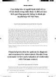 Can thiệp bảo vệ người bệnh khỏi rủi ro về tài chính trong chẩn đoán và điều trị lao: kết quả tổng quan hệ thống và đánh giá sự phù hợp với Việt Nam
