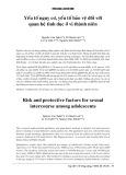 Yếu tố nguy cơ, yếu tố bảo vệ đối với quan hệ tình dục ở vị thành niên