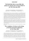 Tình hình thực hiện các quy định cấm quảng cáo, khuyến mại và tài trợ thuốc lá tại Việt Nam năm 2010
