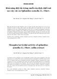 Khả năng diệt ấu trùng muỗi của dịch chiết mô sẹo cây cúc áo Spilanthes acmella (L.) Murr