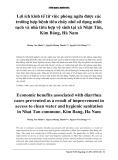 Lợi ích kinh tế từ việc phòng ngừa được các trường hợp bệnh tiêu chảy nhờ sử dụng nước sạch và nhà tiêu hợp vệ sinh tại xã Nhật Tân, Kim Bảng, Hà Nam