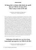 Sử dụng dịch vụ khám chữa bệnh của người dân CHILILAB năm 2011: Thực trạng và một số đề xuất