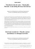 Tinh dầu lá trầu hóc môn-thành phần Phenolic và ảnh hưởng đến hoạt tính sinh học