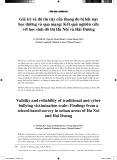 Giá trị và độ tin cậy của thang đo bị bắt nạt học đường và qua mạng: Kết quả nghiên cứu với học sinh đô thị Hà Nội và Hải Dương