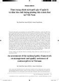 Thực trạng chính sách quốc gia về quản lý và đảm bảo chất lượng phương tiện tránh thai tại Việt Nam