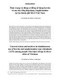 Thực trạng và động cơ đồng sử dụng ma túy tổng hợp dạng Amphetamine tại ba thành phố lớn ở Việt Nam
