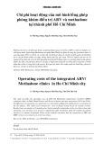 Chi phí hoạt động của mô hình lồng ghép phòng khám điều trị ARV và Methadone tại thành phố Hồ Chí Minh