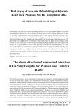 Tình trạng stress của điều dưỡng và hộ sinh Bệnh viện Phụ sản Nhi Đà Nẵng năm 2014