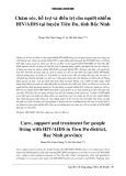 Chăm sóc, hỗ trợ và điều trị cho người nhiễm HIV/ AIDS tại huyện Tiên Du, tỉnh Bắc Ninh